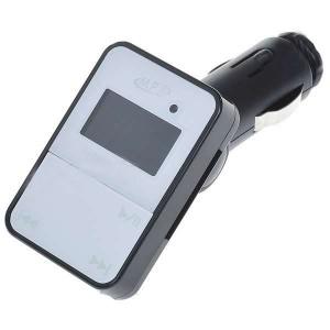 MP3 prehrávač s USB / SD slotom, FM transmiterom a DO - čierno biely