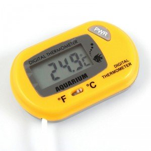 Digitálny teplomer s externým senzorom žltý