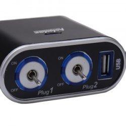 2-rozbočovač autozapalovačovej zásuvky s vypínačmi a USB