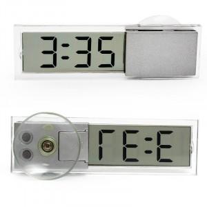Digitálne priesvitné hodiny s prísavkou na sklo