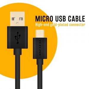 1m VOXLINK USB/microUSB kábel čierny