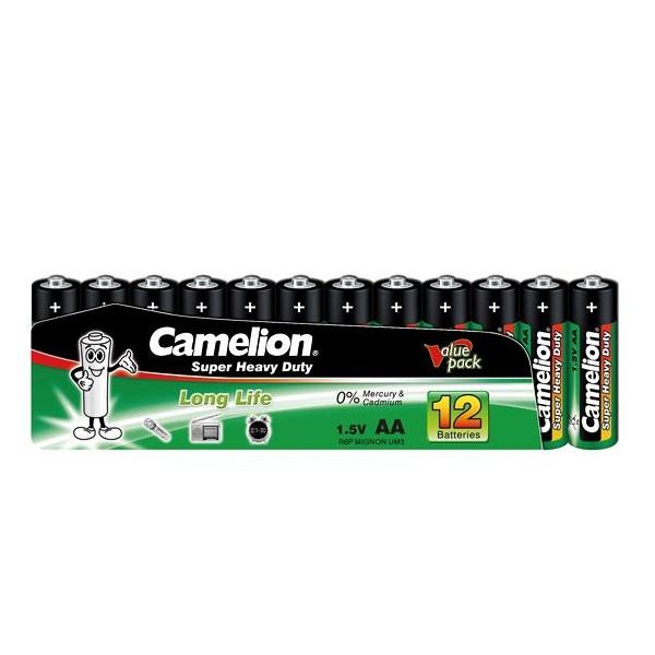 12ks Camelion Super Heavy Duty 1,5V AA R6P, Mignon batérií