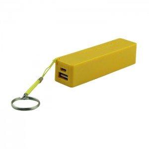 USB Power Banka na 1x 18650 batériu žltá