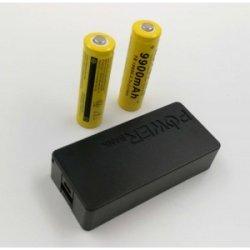 USB Power Banka na 2x 18650 batérie čierna