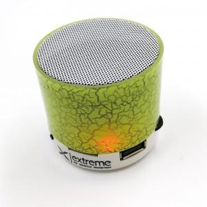 Extreme XP101G bluetooth reproduktor s FM rádiom a MP3/MP4 prehrávač zelený