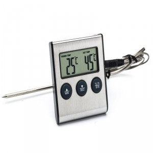 Digitálny teplomer s externým senzorom a časovačom do 250°C