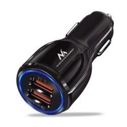 Maclean Energy nabíjačka do auta QC 3.0  MCE478 B - čierna Qualcomm Quick Charge QC 3.0 - 5V / 3A, 9V / 1,8A, 12V / 1,6A
